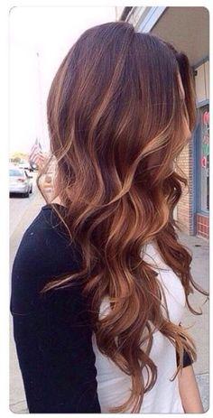 Carmel brown hair
