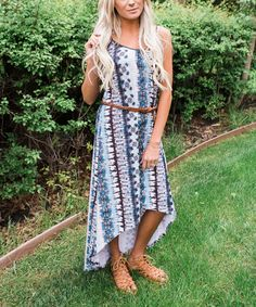 Love this Blue & Purple Tie-Dye Hi-Low Maxi Dress - Plus Too by Bella Ella Boutique on #zulily! #zulilyfinds