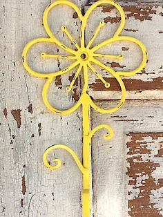 Bright Yellow Flower Wall Hook  in California by AlacartCreations