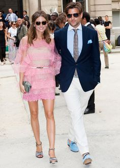 Fabulous couple  Google Image Result for http://retroaffect.files.wordpress.com/2012/07/olivia-palermo-valentino-pink-lace-ruffle-dress-paris-fashion-week-haute-couture.jpg