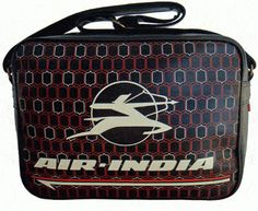 air india vintage flight bag