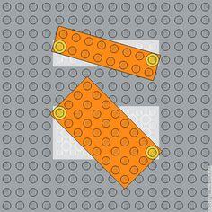 Diagonalentausch ohne Scharniere