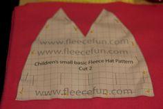 Basic Fleece Hat Pattern and Tutorial on www.fleecefun.com