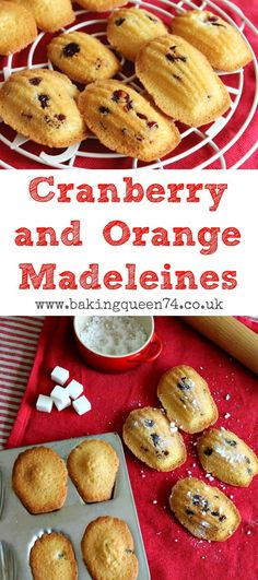 Cramnerry and orange madeleines - a fast and easy bake for the holiday season, so festive