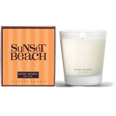 Henri Bendel Sunset Beach Signature 9.4 Oz Candle ($30) ❤ liked on Polyvore featuring home, home decor, candles & candleholders, no color, henri bendel candles, heart shaped container, aromatic scented candles, heart shaped candles and aromatic candles