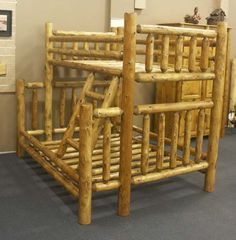 280 Best Log Bed Images In 2019 Rustic Furniture Log Bed