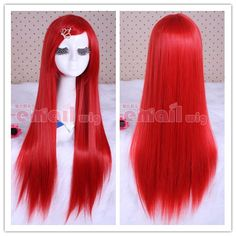 80cm long red straight cosplay hair wig CW280-C,shop all kinds of fashion cosplay wigs at http://Costwe.com/long-cosplay-wigs-c-2_4.html
