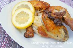 Lemon Pepper Oven Friend Chicken {Gluten Free Optional}