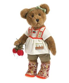 Another great find on #zulily! Gardening Plush Collectible Bear #zulilyfinds