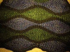 Heather waves shawlette - detail.