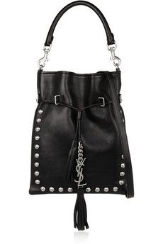 Oh yes.... TY! Saint Laurent Monogramme studded leather bucket bag | NET-A-PORTER