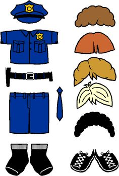 police officer paper doll - Google Search