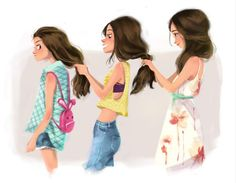 3 sisters ..... Lana, Mary, Angela... @patsydemarco  @lanarusso  could have been us way back when..  ~mbr~