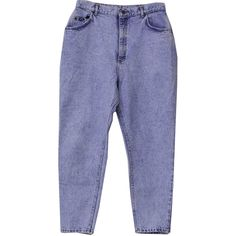 90s Retro Pants: 90s -Lee- Womens blue background acid washed cotton... (€23) ❤ liked on Polyvore featuring pants, jeans, bottoms and trousers