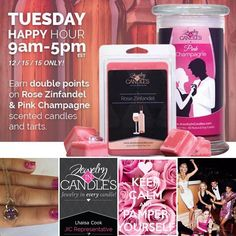 Relax and unwind today with our happy hour scent of the day Rose Zinfandel  After a few hours of enjoying our scent your jewelry surprise will be visible!!  choose your size and jewelry type in the checkout process! http://ift.tt/1IeUHGb  #nvusddjic #jichappyhour  #doublerewardpoints #wino #foodie #sahm #dayoff #spa #relax #chill #jewelry #candle #christmasgift