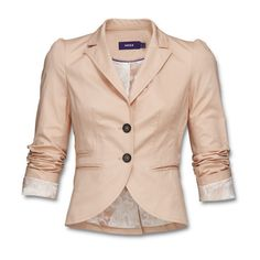 Tailored jacket in supple stretch cotton, with striking seams and slit... ($155) ❤ liked on Polyvore