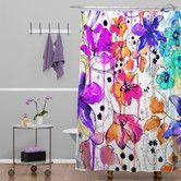 Found it at AllModern - Holly Sharpe Lost in Botanica Shower Curtain