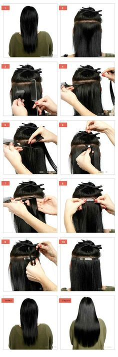 Mega Hair Fita Adesiva Passo a Passo #megahair