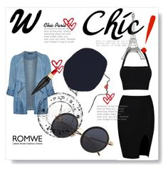 """""""Romwe"""" by malkam ❤ liked on Polyvore featuring Evans, Rene, Christian Louboutin and DOMESTIC"""