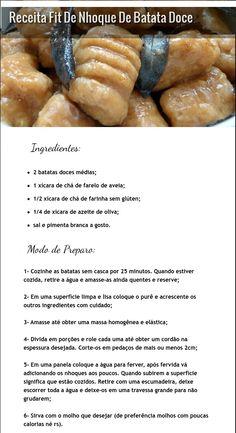 Reeducação Alimentar com Alimentação Saudável: NHOQUE DE BATATA DOCE Fit