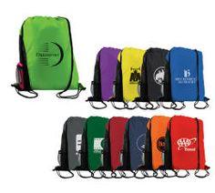 Backpack Side mesh water bottle holder   Drawstring Backpacks in ...