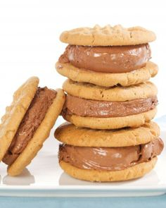 Peanut-Butter and Chocolate-Ice-Cream Sandwich Cookies Recipe