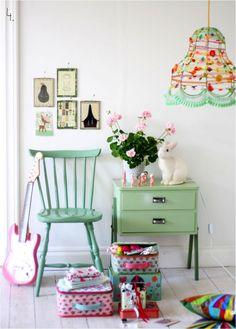 my scandinavian home: Children's bedrooms Love that light. Deco Pastel, Pastel Mint, Pretty Pastel, Deco Kids, Deco Retro, Green Home Decor, Inspiration For Kids, Little Girl Rooms, Scandinavian Home
