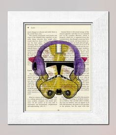 CLONE Print Star Wars on salvaged vintage page book by booknick, $6.90