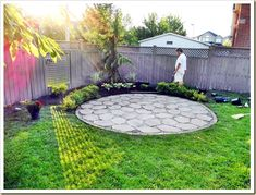diy patio...put a fire pit in the middle and you have bliss in your backyard