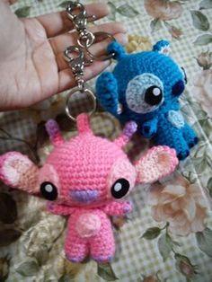 Angel Stitch Keychain - Free Amigurumi Pattern here: duchessgala.blogs...