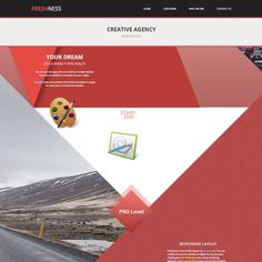 Freshness is free responsive template with Bootstrap 3.1.1 framework. Design is based on red color diagonal shapes. It designed with flat and creative style