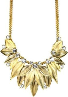 #DressUpPartyDown Givenchy 10k Gold-Plated Crystal Frontal Necklace