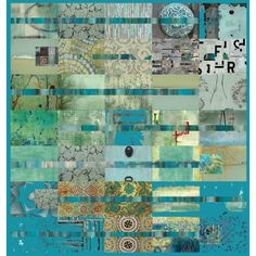"""lovely use of colour. Might do something similar with bits of appliqué for the detail - """"Teal Tomorrow"""" by shereeburlington Quilt Art, Art Quilting, Batik Quilts, Art Textile, Contemporary Quilts, Quilting Designs, Quilt Design, Mini Quilts, Fabric Art"""