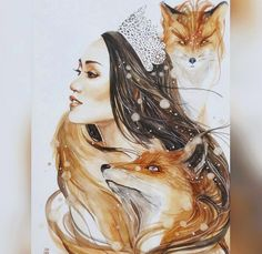 Luqman Reza Mulyono Indonesian Artist - Jongkie, has created Gorgeous Watercolor Paintings. he is very talented in the art of watercolor painting, his work was Watercolor Images, Watercolor Illustration, Watercolor Paintings, Fox Illustration, Watercolors, Animal Drawings, Art Drawings, Fox Art, Pablo Picasso