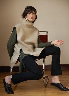 Beige Hand Sewn Wool Vest – The Frankie Shop