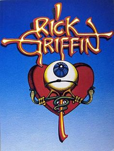 Rick Griffin.  Cover to a retrospective collection of his comics, posters and illustrations.