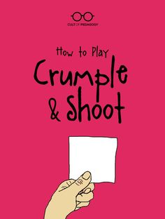 How to Play Crumple & Shoot High-energy, low-tech game can be used in any subject area, with any age Paper Games For Kids, Games For Teens, Fun Classroom Games, School Classroom, Classroom Ideas, School Teacher, School Fun, Class Games, Fun Games