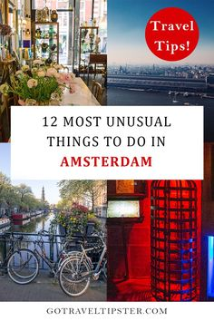 Explore the unusual side of Amsterdam with these unique things to do in Amsterdam.  Discover incredible art at NDSM, freak out at the museum of torture, shop for antiques at Spiegelstraat and try unusual food (in an unusual atmosphere).  #europe #amsterdam #netherlands