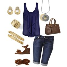 """""""navy, gold and lia sophia"""" by jade-illeck on Polyvore"""