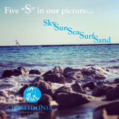 """5 """"S"""" in our picture... What other words Starting with """"S"""" remind you of Poseidonia Beach Hotel? Tag them... #Newmanagement #Hotel #Cyprus #Limassol #Sunday #Fun #SEA #Sky #Sun #Surf #Sand"""