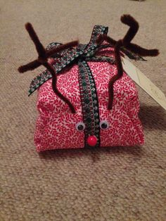 Phoenix Giftwrap Competition  Secret Santa Christmas gift. I wrapped the gift up as a reindeer!