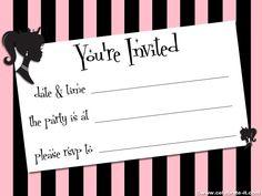 halloween invitation template Printable Halloween Party Invitations Templates – Fun for Halloween Halloween Invitation Template, Invitation Card Party, Halloween Party Invitations, Printable Invitations, Invites, Printables, Barbie Birthday Party, Barbie Party, Halloween Birthday