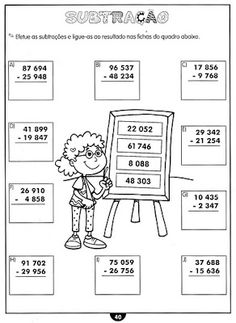 Atividades de matemática - 4 ano English Activities, Math Activities, Kids Study, Basic Math, Math Class, Coreldraw, Teaching Math, Kindergarten, Classroom