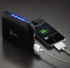 New Trent iGeek IMP99D 9900mAh External Battery Pack and Charger for iPad (4th gen) with Retina display, the NEW iPad (3rd gen), iPad 2, iPhone 5/4S/4/3Gs/3G, iPod Touch all versions; Samsung Galaxy Note/Nexus/S3/S2/S; HTC Titan, Sensation, ONE S/V/X, EVO Thunderbolt, Desire; LG Optimus series; Blackberry Bold, Curve, Torch; Motorola Razr HD/MAXX & Bionic, Atrix/2; Nokia Lumia 700/800/900 and GoPro, Plus Major Tablet PCs with 5V input (Samsung, Blackberry, HTC) etc. by New Trent…