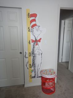 Cat in Hat growth chart. Ruler from teacher supply store?