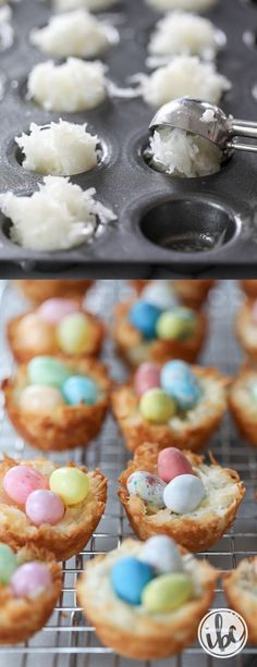 7 Easter Food Ideas – Traditional Easter Appetizers and Dessert Recipes Easter Food Ideas: Coconut Macaroon Nests. Best Easter Food Ideas – Traditional Easter Appetizers and Dessert Recipes. Mini Desserts, Holiday Desserts, Holiday Baking, Holiday Treats, Delicious Desserts, Baking Desserts, Baking Recipes, Party Desserts, Cake Recipes