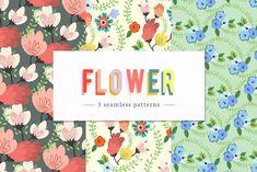 SPRING FLOWER SEAMLESS PATTERN by lul francescutti on @creativemarket