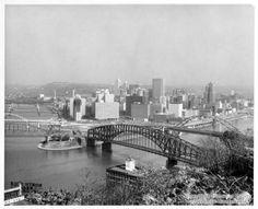 The Golden Triangle, Pittsburgh, 1963, the year of my birth.  You've come a long way baby!