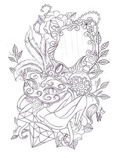 Google Image Result for http://th00.deviantart.net/fs71/PRE/i/2012/126/2/9/leg_mask_and_mirror_tattoo_sketch_by_nevermore_ink-d4ypb11.jpg