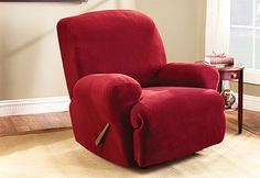 slipcover for the Recliner... I love red, but Andy would want Navy. They don't come in that color, though.